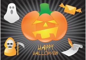 Glad Halloween Vektor