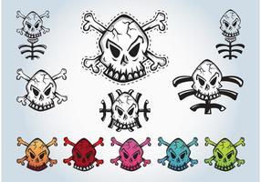 Cráneos gráficos vectoriales