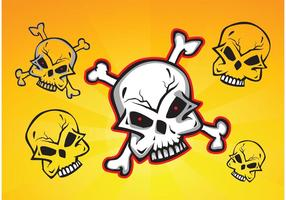 Skulls Vector Clip Art