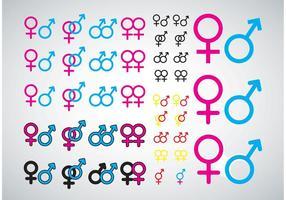 Männliche weibliche Ikonen