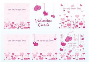 Cartões do vetor do Valentim