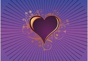Cœur violet