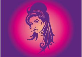 Ilustración de Amy Winehouse