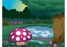 Paisagem dos cogumelos