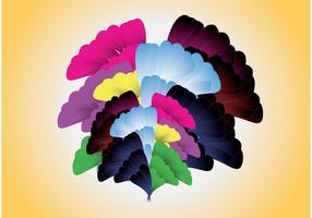 Diseño abstracto de las flores
