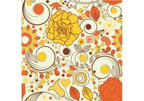 Herfst Bloemen Behang