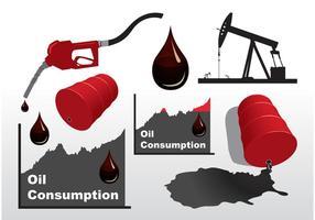 Vetores de óleo