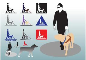Guide-dog-vectors