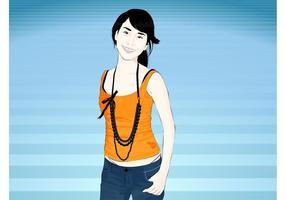 Asian Girl Vector