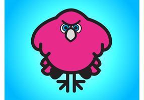 Desenhos animados irritados da ave