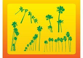Vetores de palmeiras