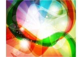 Rainbow Swirls Background