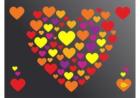 Valentin hjärta vektor