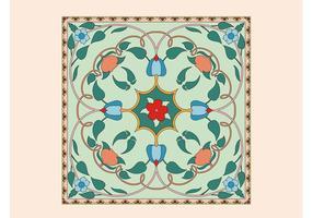 Vector de azulejos florales