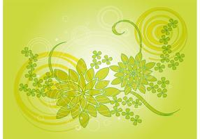 Green Plants Vector Background