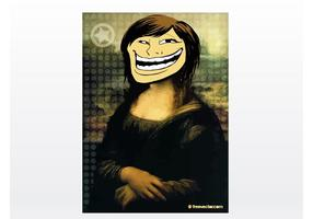 Troll gezicht meisje vector