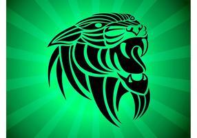 Panthera Tribal Vector