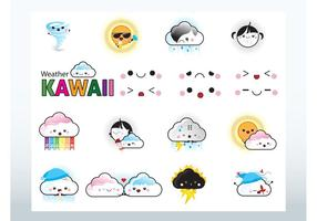 Kawaii Weather Vectors