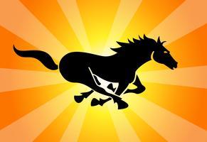 Black-running-horse