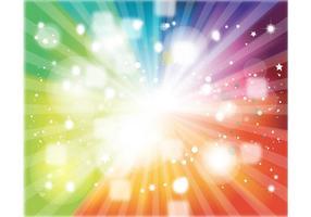 Rainbow Colors Starburst