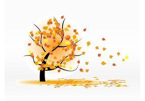 Feuilles d'automne soufflant