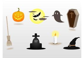 Halloween Decoraciones Vectores