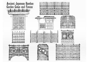 Japanska bambu staket