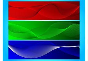 Wavy Ribbon Banners
