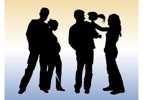 Family Silhouette Vectors
