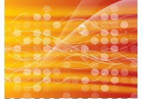 Orange Glowing Circles Background