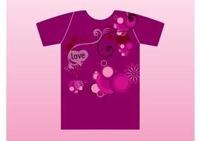 Violettes Liebes-T-Shirt