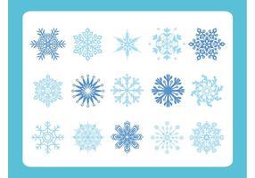 Variedad de escamas de nieve