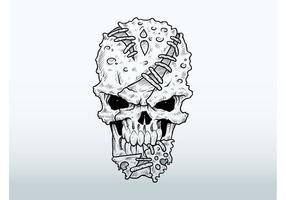 Dibujo del cráneo del mutante