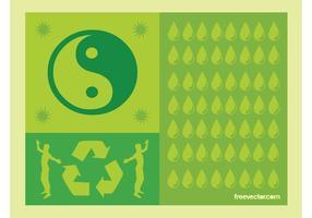 Vector de la vida verde