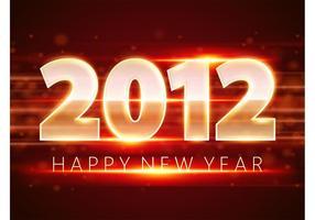 Diseño rojo del Año Nuevo