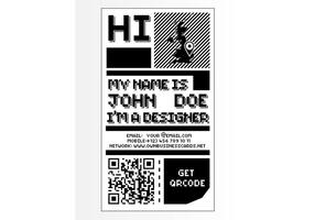 Cartão de visita de 8 bits