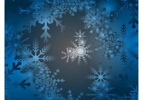 Fondo azul de la nieve