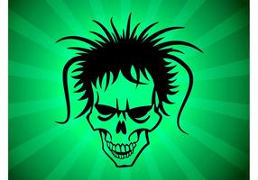 Hårig Punk Skull