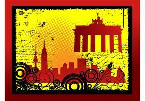 Grunge Stadtkarte