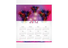 Kalender lay-out sjabloon