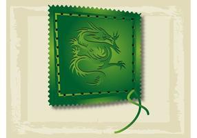 Sello asiático del dragón