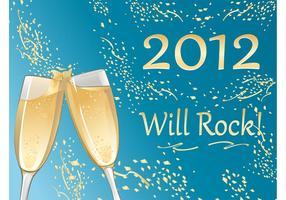 Champagner Neujahr
