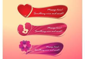 Bannières romantiques