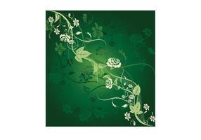 Grüne Blumenfliese