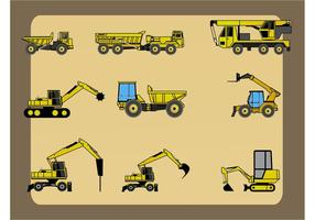 Schwere Baufahrzeuge