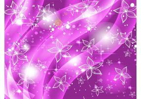Fondo púrpura de las estrellas de las flores