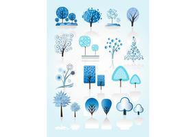 Vinterträdvektorer