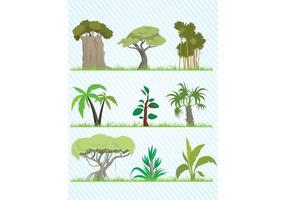 Cartoon-tree-vector-pack