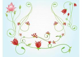 Red Flowers Vectors