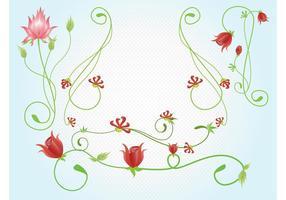 Vetores de flores vermelhas